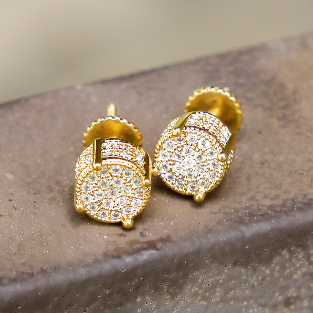 CZ Stud Round Earrings